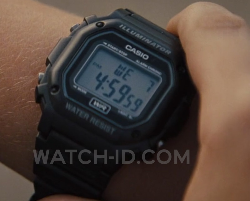 The Casio watch can clearly be seen when Neckbone checks the time.