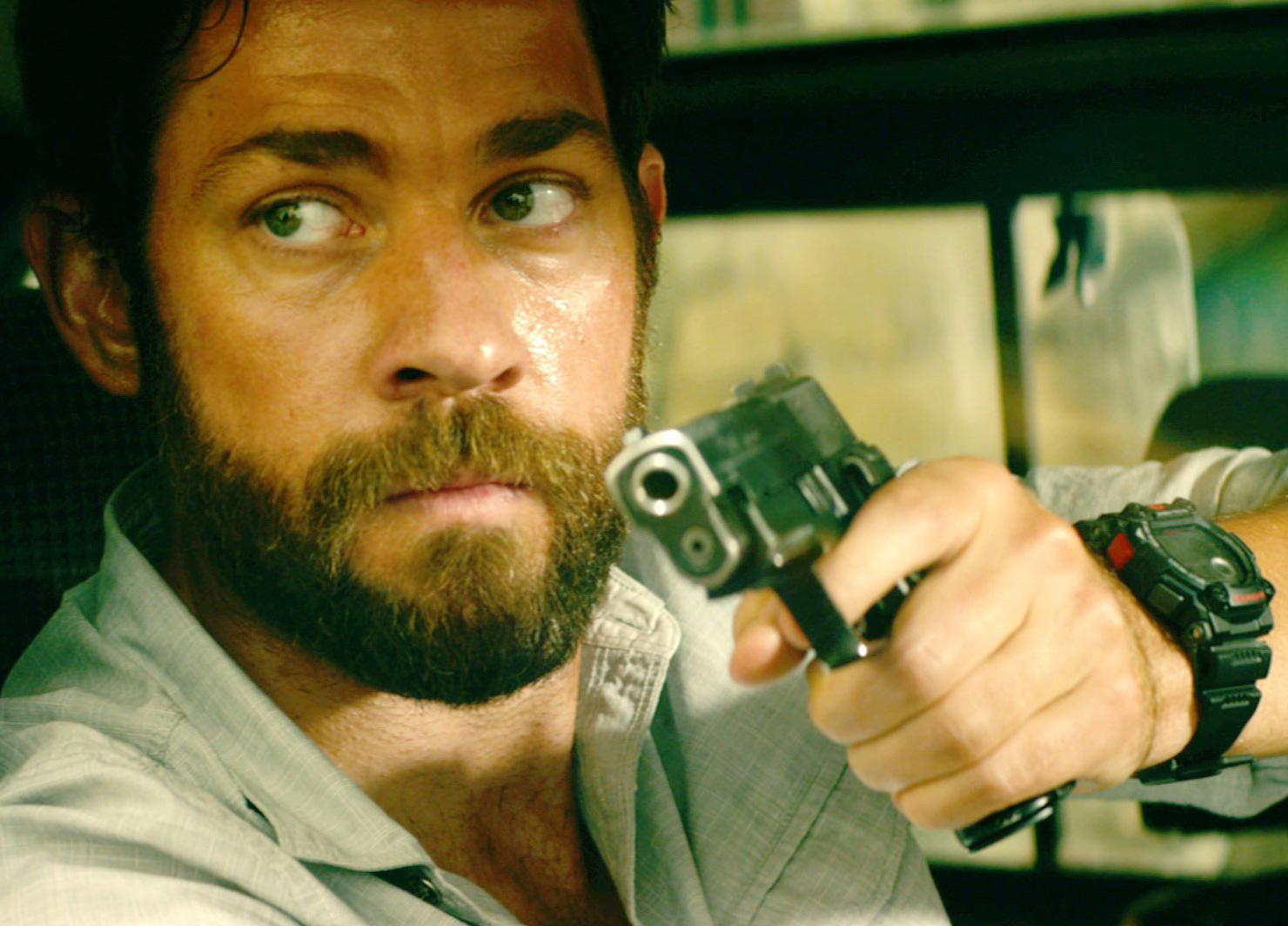 John Krasinski wears a Casio G-Shock G7900-1 watch in 13 Hours: The Secret Soldiers of Benghazi.
