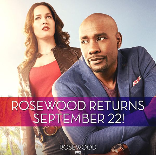 Actor Morris Chestnut wears a Guess U0500G1 watch in this promo image for the tv series Rosewood.