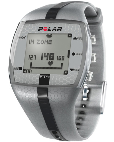 Polar FT4 heart rate monitor, silver/black