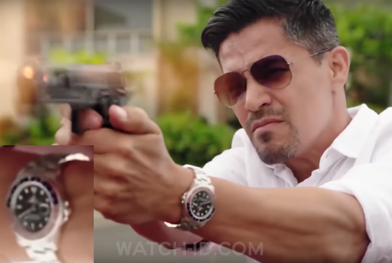 Actor Jay Hernandez wears a Rolex GMT-Master II in the pilot episode of Magnum P.I. (2018)
