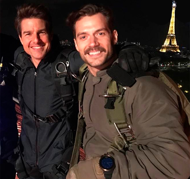 The Suunto Spartan can here be seen on Henry Cavill's wrist in a behind-the-scenes photo
